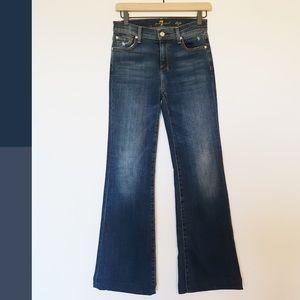 7 For All Mankind Dojo Dark Wash Flare Jeans SZ 25